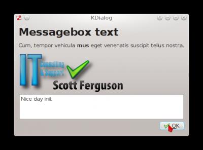 KDialog - Scott Ferguson - IT Consulting